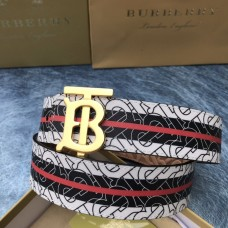 Burberry men's belt 4.0cm men's leather fashion belt